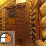 Банная печь из кирпича ручной формовки