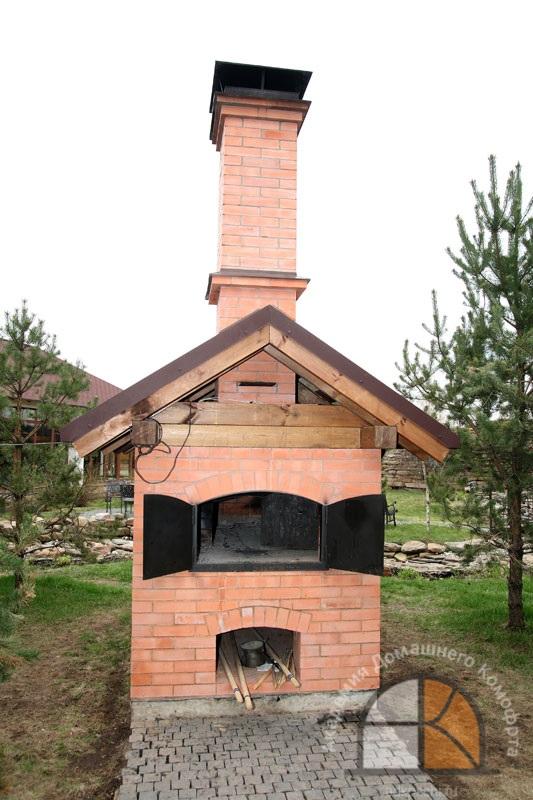 Как сделать русскую печь на улице 856