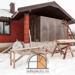 Строительство печей, каминов, барбекю зимой.